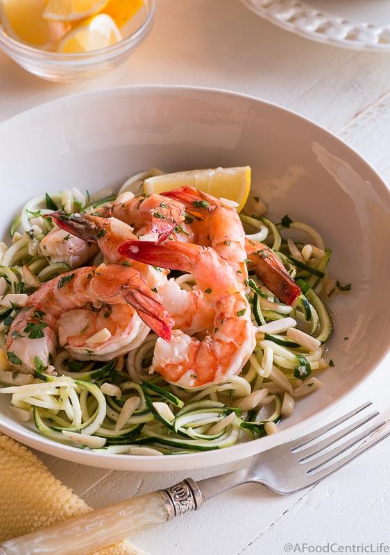 lemon shrimp scampi | AFoodCentricLife.com