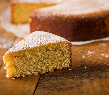 lemon almond polenta cake | AFoodCentricLife.com