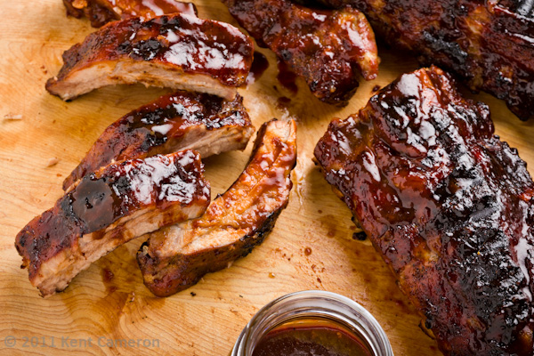 Oven Baby Back Ribs with Hoisin-Bourbon Sauce | A Food Centric Life