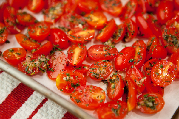 Oven Roasted Baby Tomatoes with Thyme