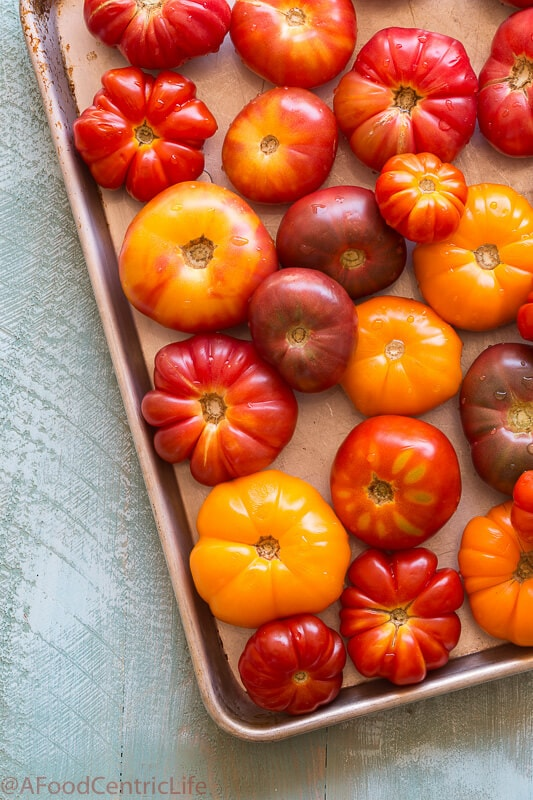 Heirloom tomatoes|AFoodCentricLife.com