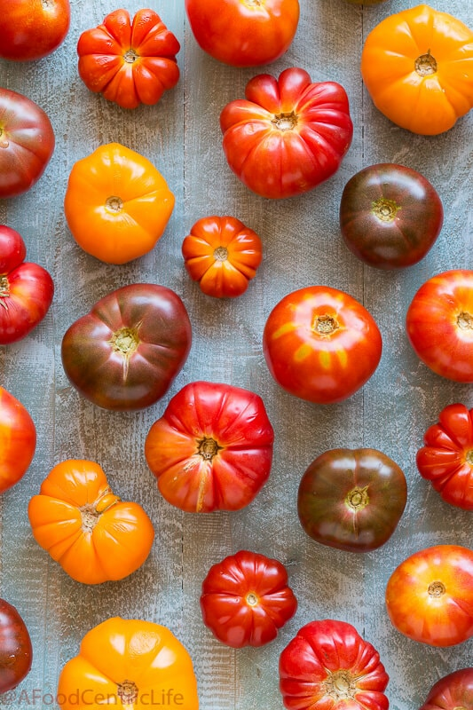 Heirloom tomatoes | AFoodCentricLife.com