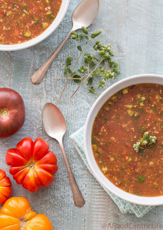 gazpacho tomato soup | AFoodCentricLife.com