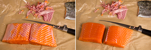how to skin salmon|AFoodCentricLife.com