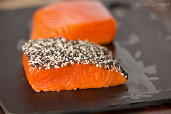 black and white sesame salmon|AFoodCentricLife.com