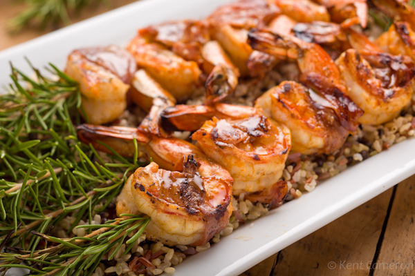 Grilled Shrimp Wrapped with Prosciutto on Rosemary Skewers | A Food ...