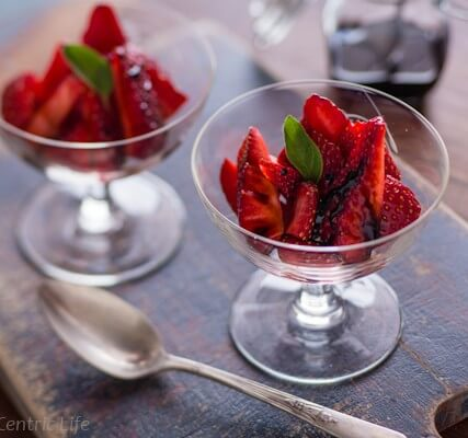 Strawberries with Balsamic Syrup