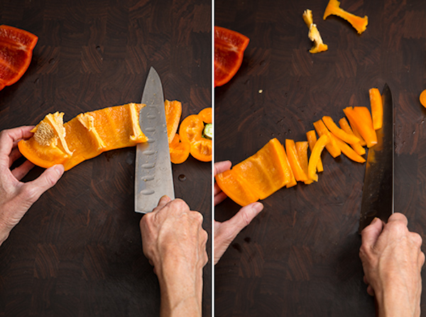 how to cut up a bell pepper