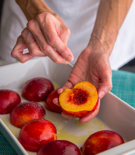 nectarine and goat cheese crostini | AFoodCentricLife.com