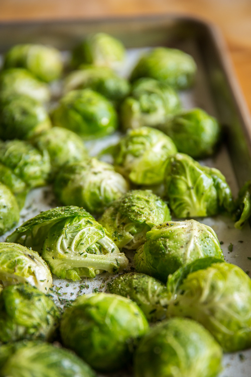 Brussels Sprouts Ready for the Oven