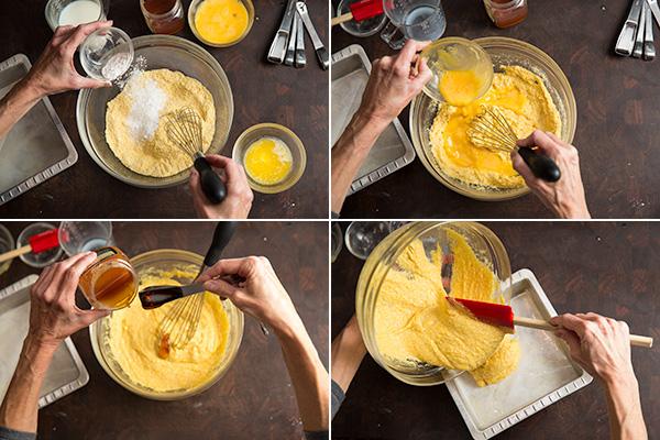Making gluten-free cornbread