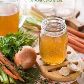 Homemade Vegetable Broth| A FoodCentricLife.com