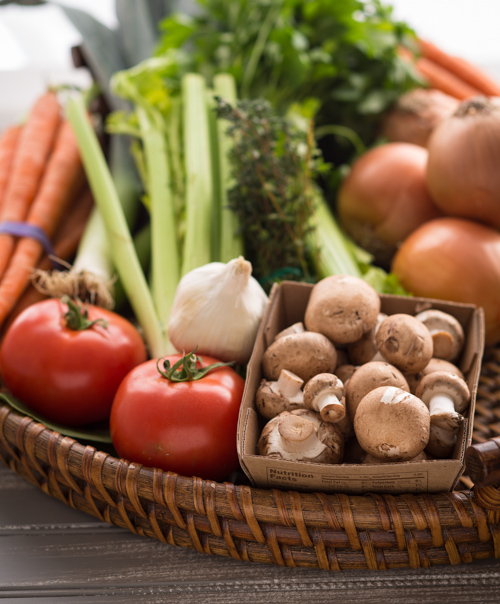 Vegetable Basket Closeup