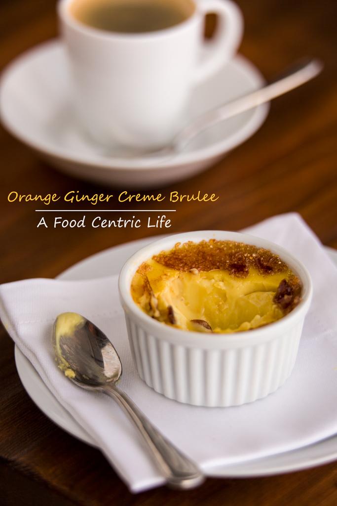 Orange Ginger Creme Brulee photo