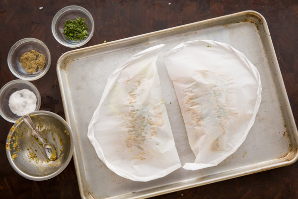 Chicken in Parchment Prep -8