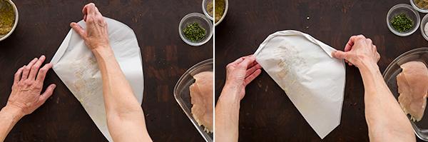 Chicken in Parchment Preparation -2