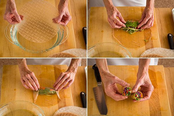 Making spring rolls