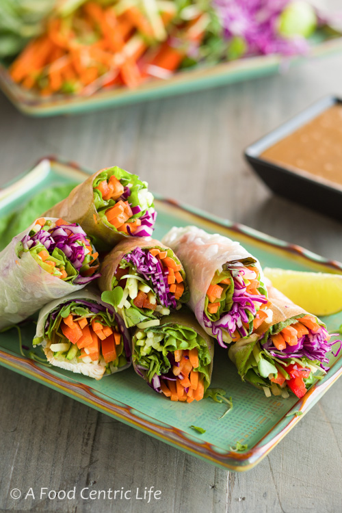 Rainbow Vegetable Spring Rolls A Foodcentric Life