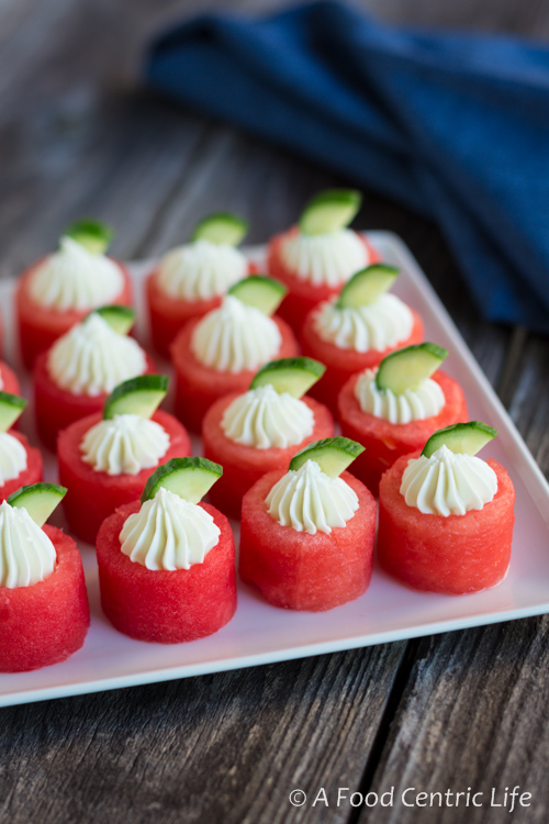 Watermelon & Goat Cheese Appetizer
