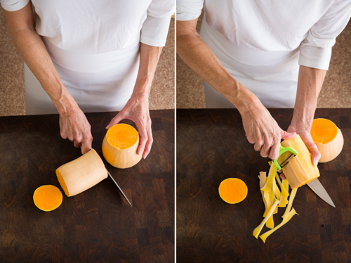 how to cut up butterut squash