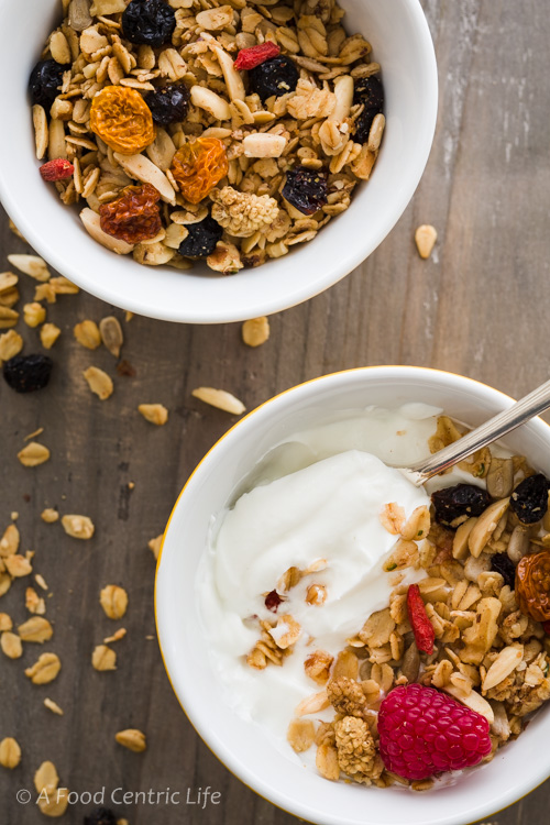 Maple granola | A FoodCentricLife.com