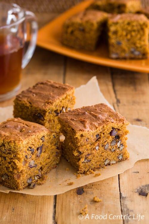 Pumpkin Pecan Cake|AFoodCentricLife.com