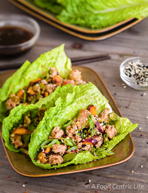 Asian Lettuce Wraps|AFoodCentricLife.com