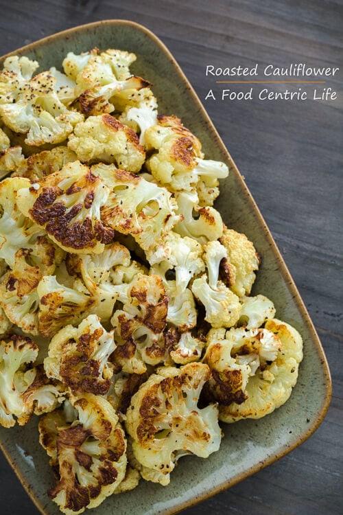 roasted cauliflower | afoodcentriclife.com