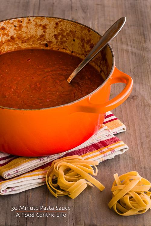 30 minute pasta sauce