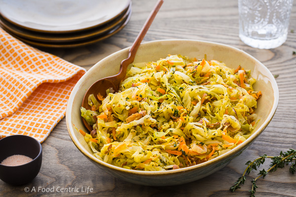braised cabbage and bacon