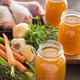 Homemade Turkey Broth | AFoodCentricLife.com