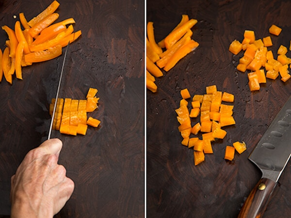 how to cut up a bell pepper AFoodCentricLIfe.com