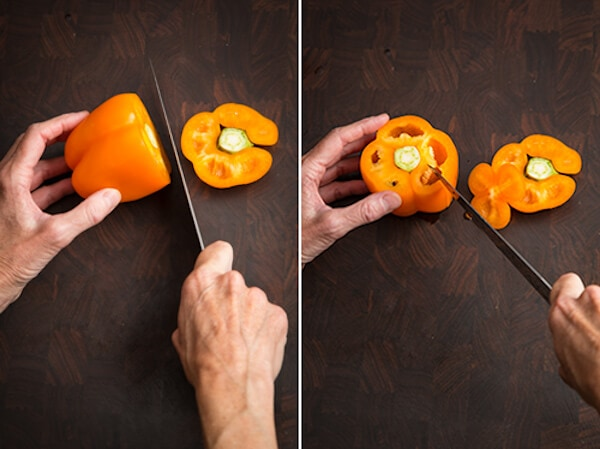 How to Cut Up Bell Pepper AFoodCentricLife.com