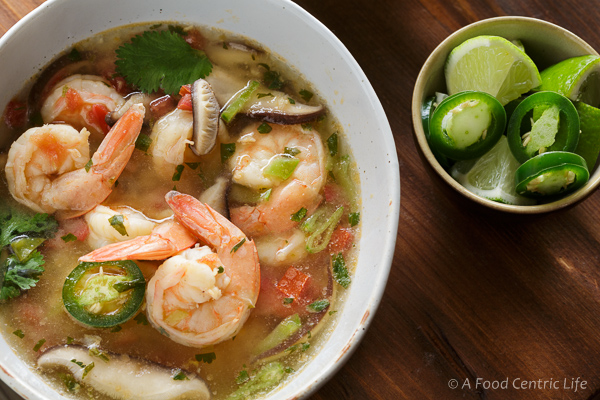 Lemongrass shrimp soup step by step