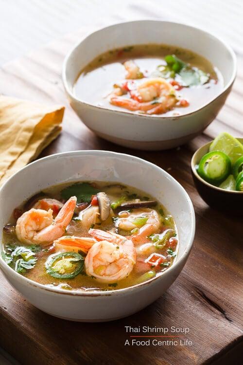 thai shrimp soup | AFoodCentricLife.com