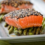 Black adn white sesame salmon|AFoodCentricLife.com