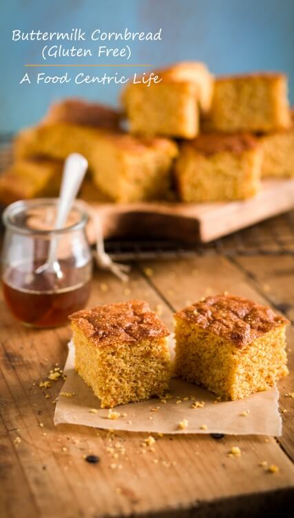 Gluten Free Cornbread with Buttermilk|AFoodCentricLife.com