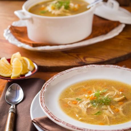 chicken rice soup | AFoodCentricLife.com
