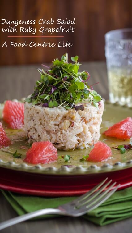 Dungeness Crab Salad with Ruby Grapefruit
