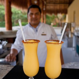 Two Mango Grand Marnier Margaritas Please!