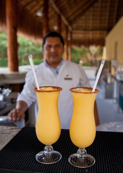 Two Mango Grand Marnier Margaritas Please!