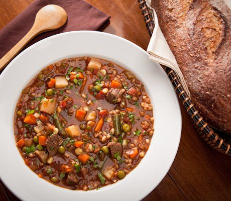French Market Vegetable Beef Soup | AFoodCentricLife.com