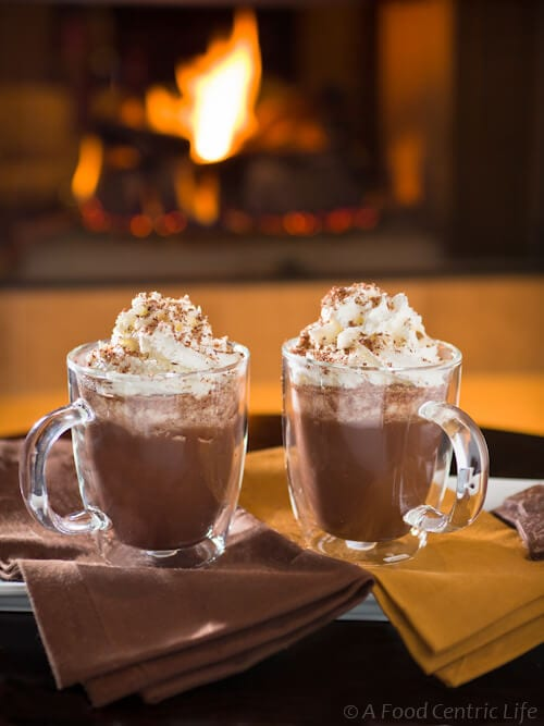 winter dream hot chocolate |AFoodcentriclife.com