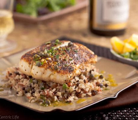 lemon caper halibut | afoodcentriclife.com