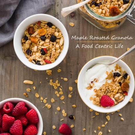 Maple granola| A FoodCentricLife.com