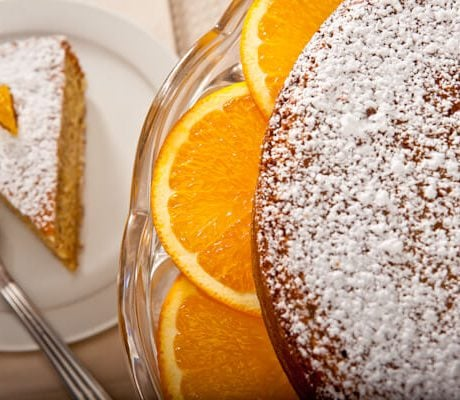 Orange almond torte | AFoodCentricLife.com