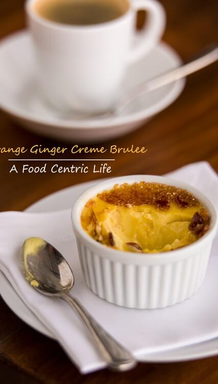 Orange Ginger Creme Brulee