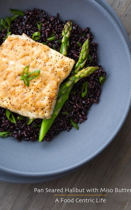 Pan Seared Halibut with Miso Butter