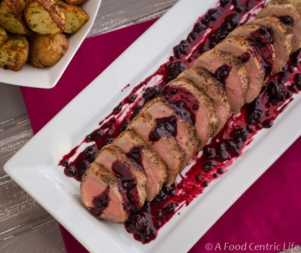 Pork Tenderloin with Blackberry Sauce|AFoodCentricLife.com