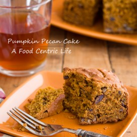 Pumpkin Maple pecan Cake|AFoodCentricLIfe.com